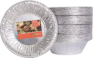 Party Bargains Aluminum Foil Tart / Pie Pans | Perfect for Homemade Cakes & Pies - 5.5 Inch | Pack of 50