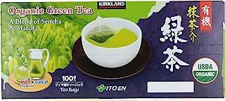 Kirkland Signature Organic Japanese Green Tea, A Blend of Sencha & Matcha 100 bags 0.05 Oz/1.5g per bag by