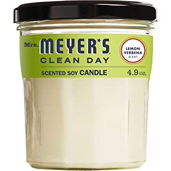 Mrs. Meyer's Clean Day Scented Soy Aromatherapy Candle, 35 Hour Burn Time, Made with Soy Wax, Lemon Verbena, 4.9 oz