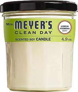 Mrs. Meyers Scented Soy Candle, Lemon Verbena 4.9 oz