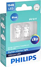 Philips 194 Ultinon LED Bulb (Blue), 2 Pack
