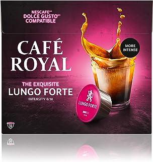 Café Royal Lungo Forte 48 capsules Compatibles avec Nescafé (R)* Dolce Gusto (R)* - Lot de 3X16 - intensité 8/10 - certifi...