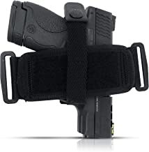 Tactical Pancake Gun Holster Houston - Nylon Material Concealed Carry Soft | Suede Interior for Protection | IWB or OWB | Ambidextrous | Fit: Glock 19 23 32 26 27 33 30 | M&P Shield, XDs, Taurus PT111
