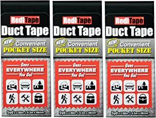 RediTape 10934 Travel, Camping, Photography and Emergencies | Pocket Size, 3-Pack, Black