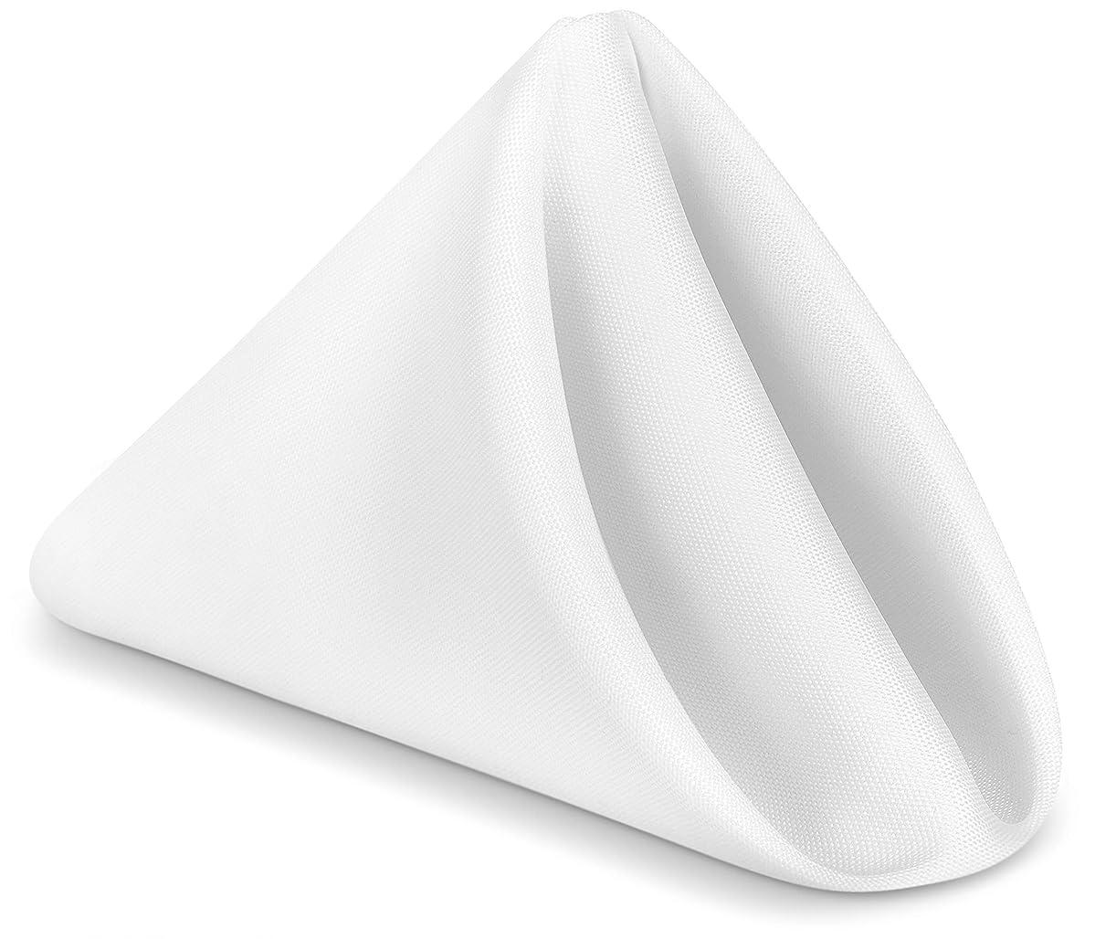 Utopia Home Restaurant Cloth Napkins 17 x 17 Inch - White - (Pack of 24)