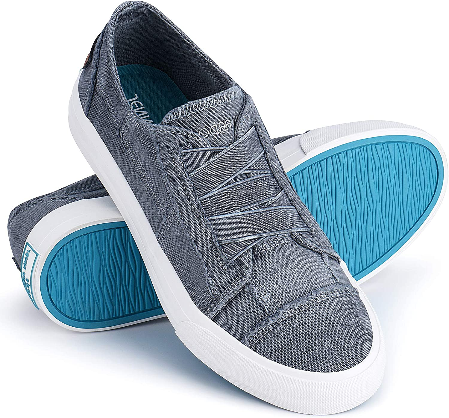 Time sale JENN ARDOR Womens Canvas Sneakers NEW before selling Unlaced Shoes Top Low Fashion