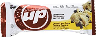 YUP Brands B-Up Protein Nutritional Bar, Chocolate Chip Cookie Dough, 12 Count, 2.2 Ounce Each