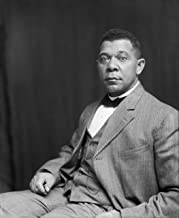 Home Comforts Booker T. Washington 1895 Portrait Art American History S Artwork Vivid Imagery Laminated Poster Print 11 x 17