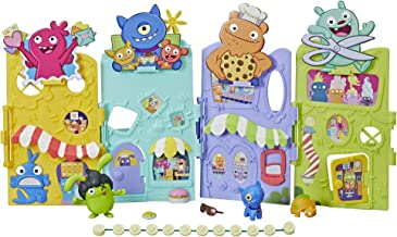 UGLYDOLLS Uglyville Unfolded Main Street Playset & Portable Tote, 3 Figures & Accessories