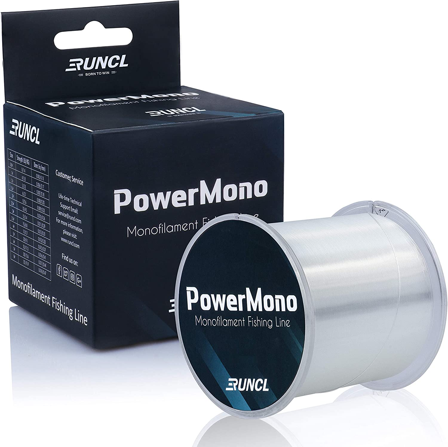 RUNCL PowerMono All stores are sold Fishing Manufacturer direct delivery Line 300 500 Monofilament