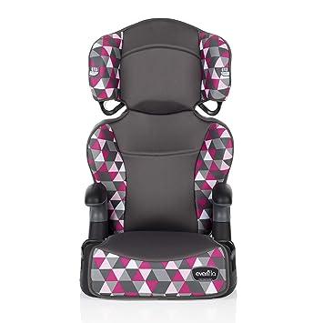 Evenflo Big Kid Highback 2-in-1 Belt-Positioning Booster Car Seat, Bristol Pink: image