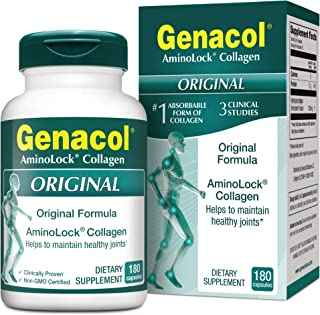 GENACOL Original Joint Supplements for Men & Women (180 Capsules) |Hydrolyzed Collagen Peptides for Healthy Joints, Cartil...