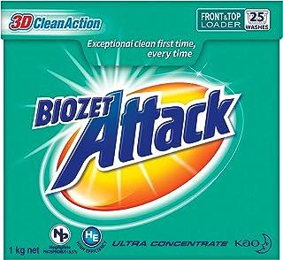 Biozet Attack Regular Laundry Powder Detergent, 1 kilograms