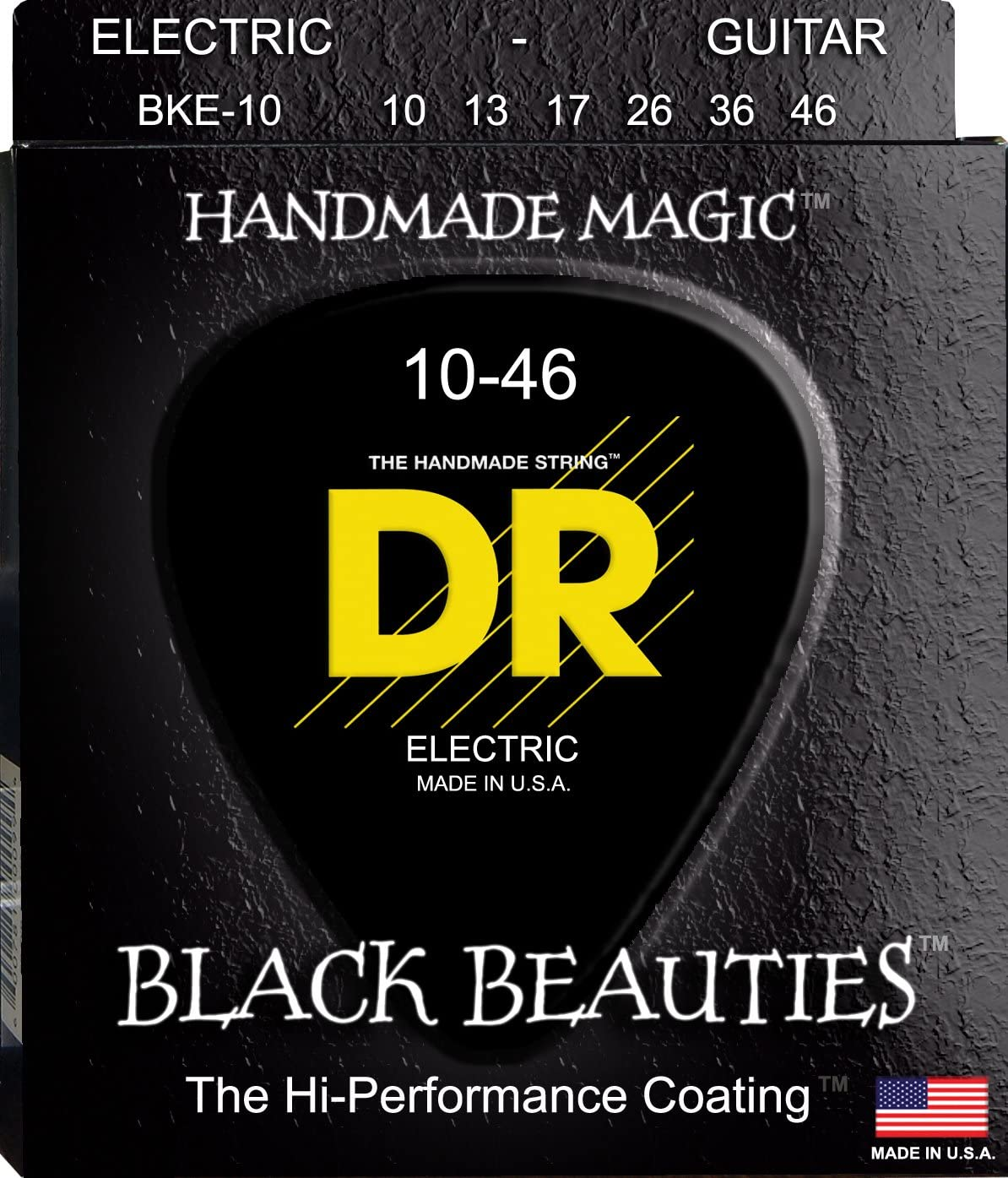 DR Strings Miami Mall Electric Guitar Indianapolis Mall Beauties - Black Coate