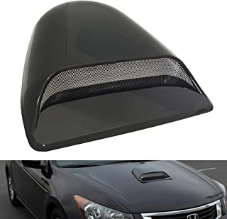 CK Formula Universal Decorative Hood Scoop Dark Smoke Black Waterproof Air Flow Intake Vent Cover for Vehicle Car Auto
