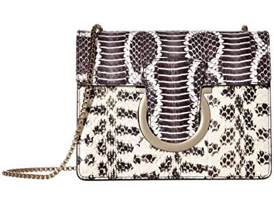 Salvatore Ferragamo Thalia Evening Bag (Nero/Bianco) Handbags