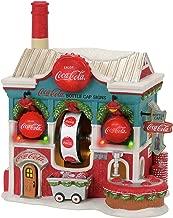 Department 56 North Pole Coca Cola Bottle Caps Factory Village Lit Building, Multicolor