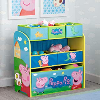 Delta Children 6-Bin Toy Storage Organizer, Peppa Pig