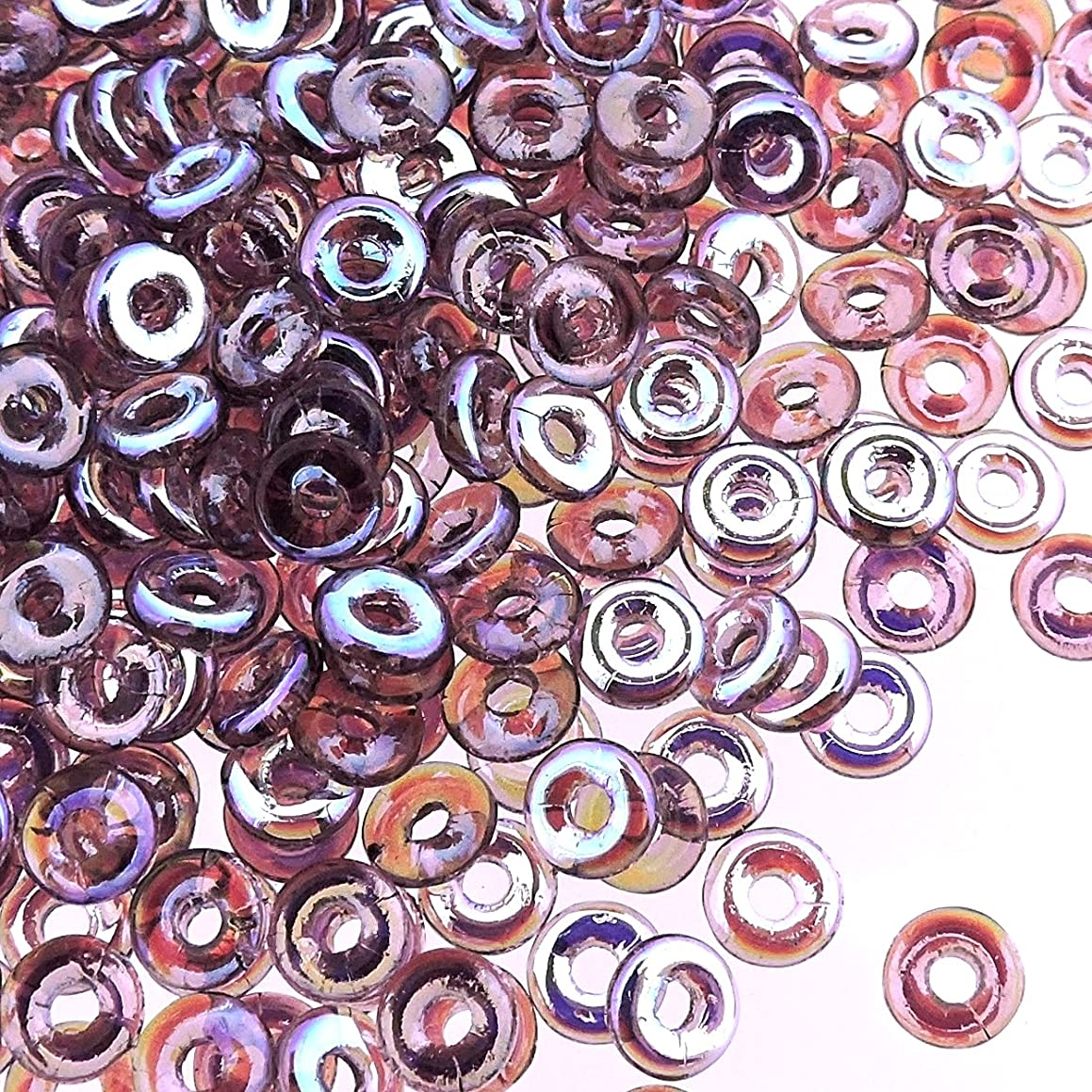 Czech O-Beads 3.8 x 1 mm Amethyst AB 8.1g