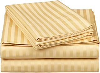 Impressions by Luxor Treasures 100% Egyptian Cotton 650 Thread Count Sheet Set, Gold, Queen, 4-Piece