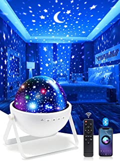 One Fire Night Lights for Kids Room, Bluetooth Music Star...