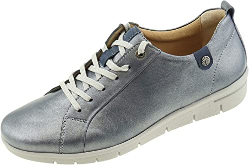 Hartjes , Chaussures de Ville à Lacets pour Femme Bleu Bleu Acier 41 1 3 EU