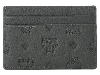 MCM Klara Monogrammed Card Case Mini (Charcoal) Handbags