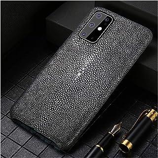 mobilskal Fit For Samsung S20 Plus S20FE S10 S9 S8 Äkta Läderkåpa Passform Fit For Galaxy S20 Ultra Not 9 10 (Color : Dark...