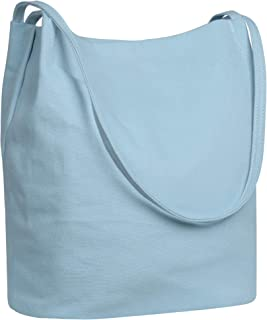 Iswee Canvas Womens Bucket Bag Shoulder Handbags Hobo Ladies Purses Fashion Tote Purse