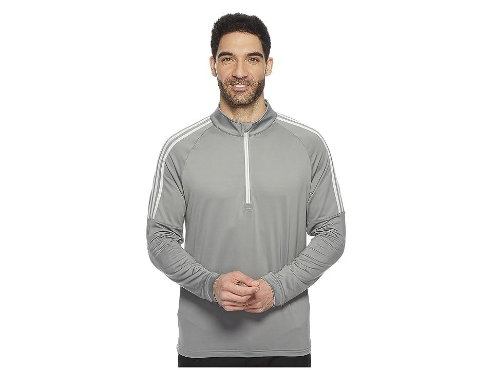 adidas Golf Classic 3-Stripes 1/4 Zip Pullover (Grey Three) Men