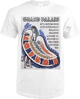 Grand Palais - Salon d'Automne Vintage Poster (artist: Van Dongen) France c. 1920 74922 (Premium White T-Shirt Large)