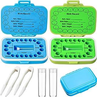 2 Pieces Baby Teeth Keepsake Box PP Tooth Fairy Box Kids Tooth Storage Holder Organizer for Lost Teeth Cute Kids Deciduous...