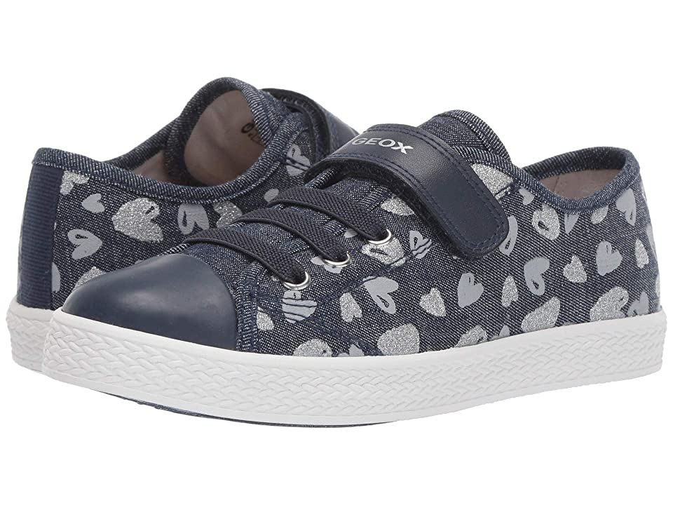 Geox Kids Ciak Girl 65 (Little Kid/Big Kid) (Avio/Silver) Girl