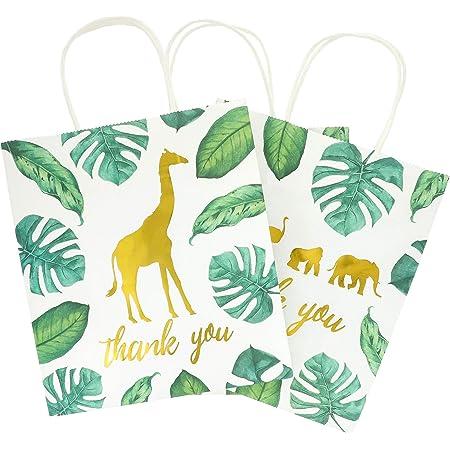 12 PAK Safari Animal Birthday 5x7 Favor Bags  Giraffe Monkey  Pick Age Boy Girl  Candy Popcorn Cookie Gift Treat Bag  Personalized