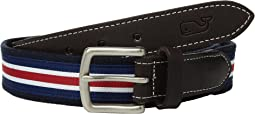 Vineyard Vines Prep Stripe Canvas Club Belt