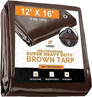 heavy duty tarp brown