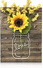 Sunflower Jar String Art Kit - DIY String Art Kit, Sunflower Arts and Crafts, Crafts for Adults, DIY Kit, Sunflower Home Decor, Crafting Project