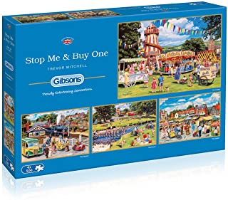 Stop Me & Buy One 4x500 Piece Jigsaw Puzzle   Multi-Puzzle  Sustainable Puzzlefor Adults   Premium100% RecycledBoard ...