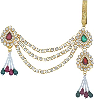 Memoir Gold Plated, CZ Pearls Kundan Traditional Half Kamarbandh Bridal Jewellery Clothing Accessory Women