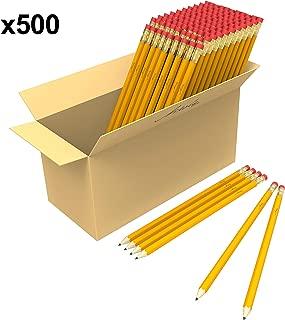 Bulk Premium Pre-Sharpened Wood Cased #2 HB Pencils 500 Pack