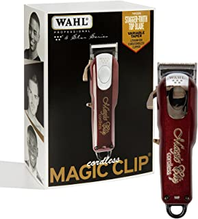 Wahl Professional 5-Star Cordless Magic Clip - Great for Barbers and Stylists - Precision Cordless Fade Clipper Loaded with Features - 90+ Minute Run Time Burgundy