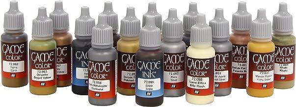 Vallejo 72291 Game Colour Leather & Metal 16 Colour Set Acrylic Paint