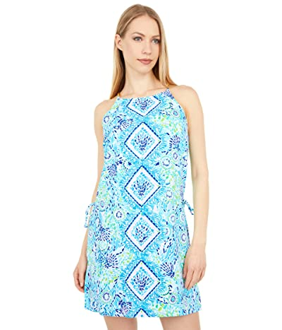 Lilly Pulitzer Pearl Romper (Blue Ibiza Open Water Engineered) Women