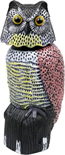 Galashield Owl Decoy to Scare Birds Away Scarecrow Fake Owl with Rotating Head