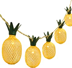 BETUS 6.5 Ft 10 LEDs Pineapple Fairy String Light - Decor Gifts Battery Operated for DIY Christmas Tropical Theme Party Fe...