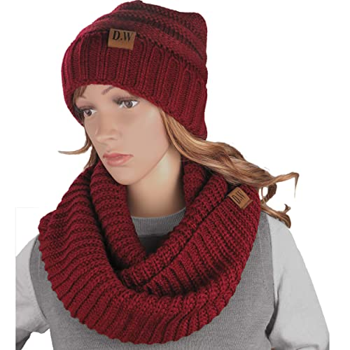1de40552299 Knit Infinity Loop Scarf And Beanie Hat Set