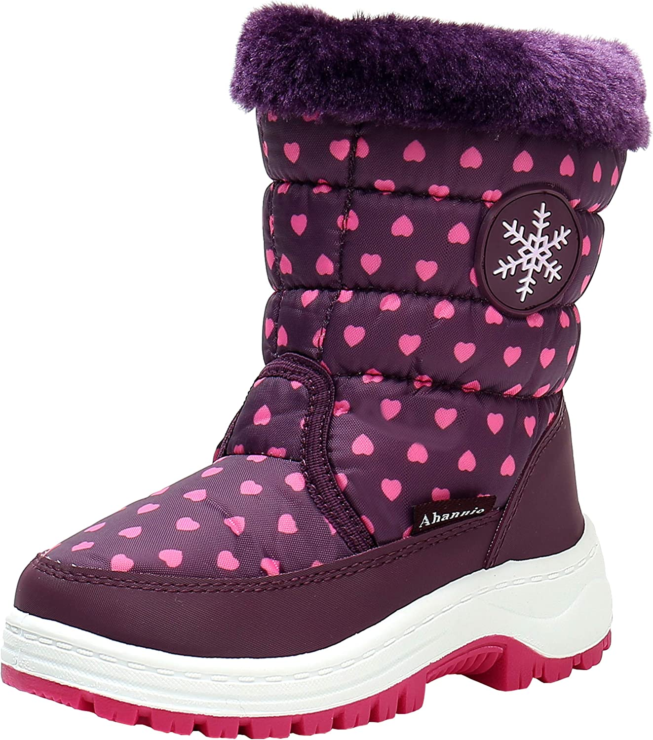 Special Campaign Ahannie Toddler Free shipping anywhere in the nation Girls Warm Snow Insulated Boots Kid Outdoor Win