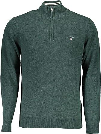 GANT Men's Superfine Lambswool Half Zip Sweater