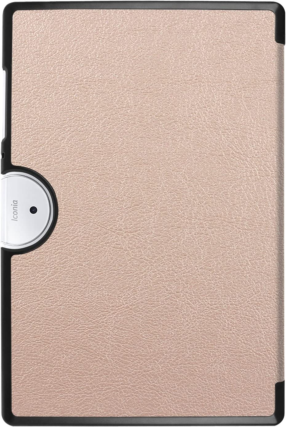 KM-WEN/® Tablet Case for Acer Iconia One 10 Bookstyle PU Leather Flip Cover Case Bag with Stand Holster Auto Sleep//Wake Function Protective Cover Tablet PC Rose Gold B3-A40 10.1 Inch