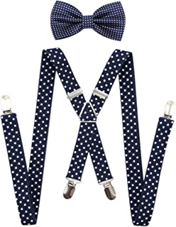 Men's X Back Suspenders & Bowtie Set - Perfect For Weddings & Formal Events